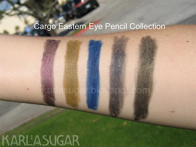 Cargo, Eastern Eye Pencil, Eastern Eyeliner, swatches