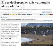 El sur de Europa es ms vulnerable al calentamiento.