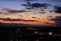 Chmury, Warszawa, zachód Słońca