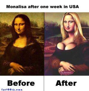 lukisan Monalisa Yang Unik Dan Lucu