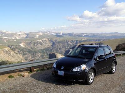 Suzuki SX4 on Beartooth Highway - Subcompact Culture