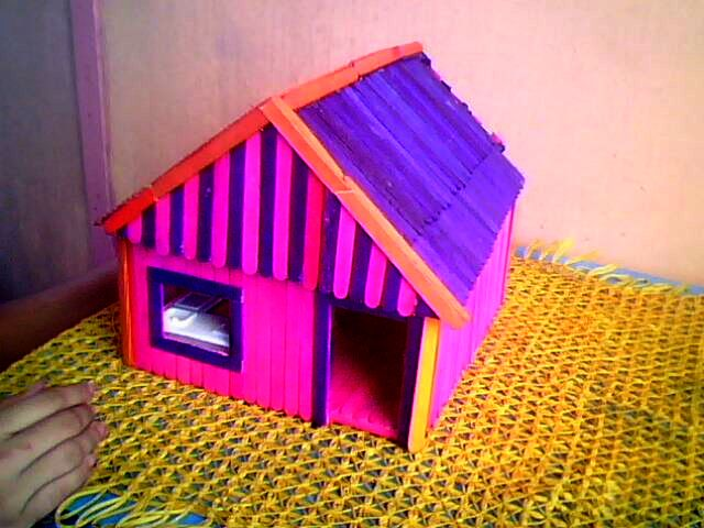 Our little corners popsicle stick doll house for Popsicle art projects