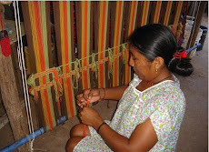 Wayuu Indain working in the loom