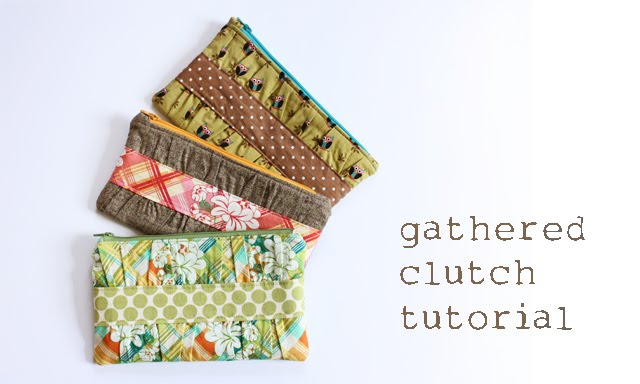 gathered clutch sewing tutorial