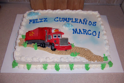 Mack Cars Cake http://www.wendyscakespace.com/2008/01/cars-movie-mack-cake.html