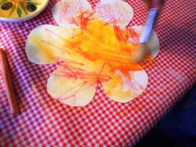 flower art with kids