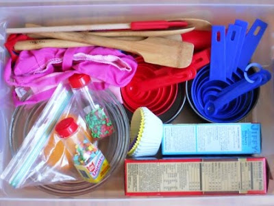Baker's pretend play prop box
