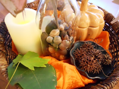 Fall nature tray