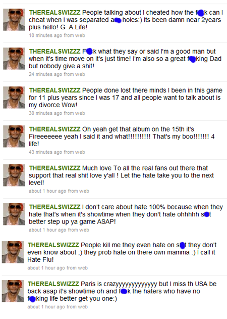 swizzy tweets Swizz Beatz Says: Im A Good Man While Telling His Wife & Fans To Move On