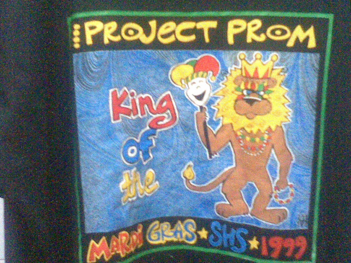 MARDI GRAS PROJECT PROM 1999 T SHIRT....
