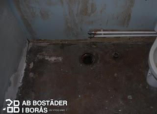 AB Bostäder i Borås - så såg vårt badrum ut