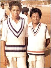 Little Master Sachin Tendulkar With his Friend