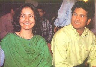 Sachin Tendulkar With His Wife Anjali Tendulkar