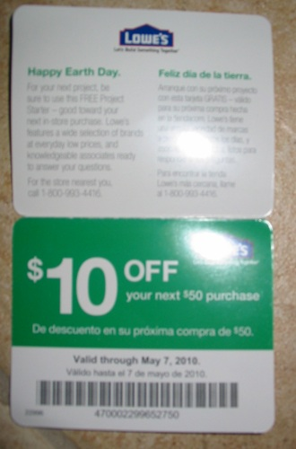 10 lowes coupon code