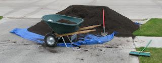 Raised-Garden-Box-Bed-Dirt-Pile-Seven Cubic Yards