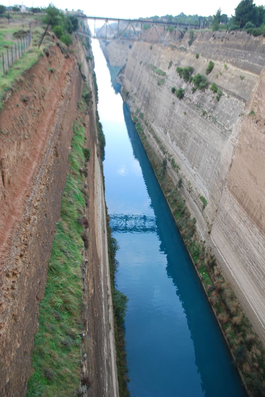 The Corinth Canal, which turned the Peloponnese peninsula into an island 67