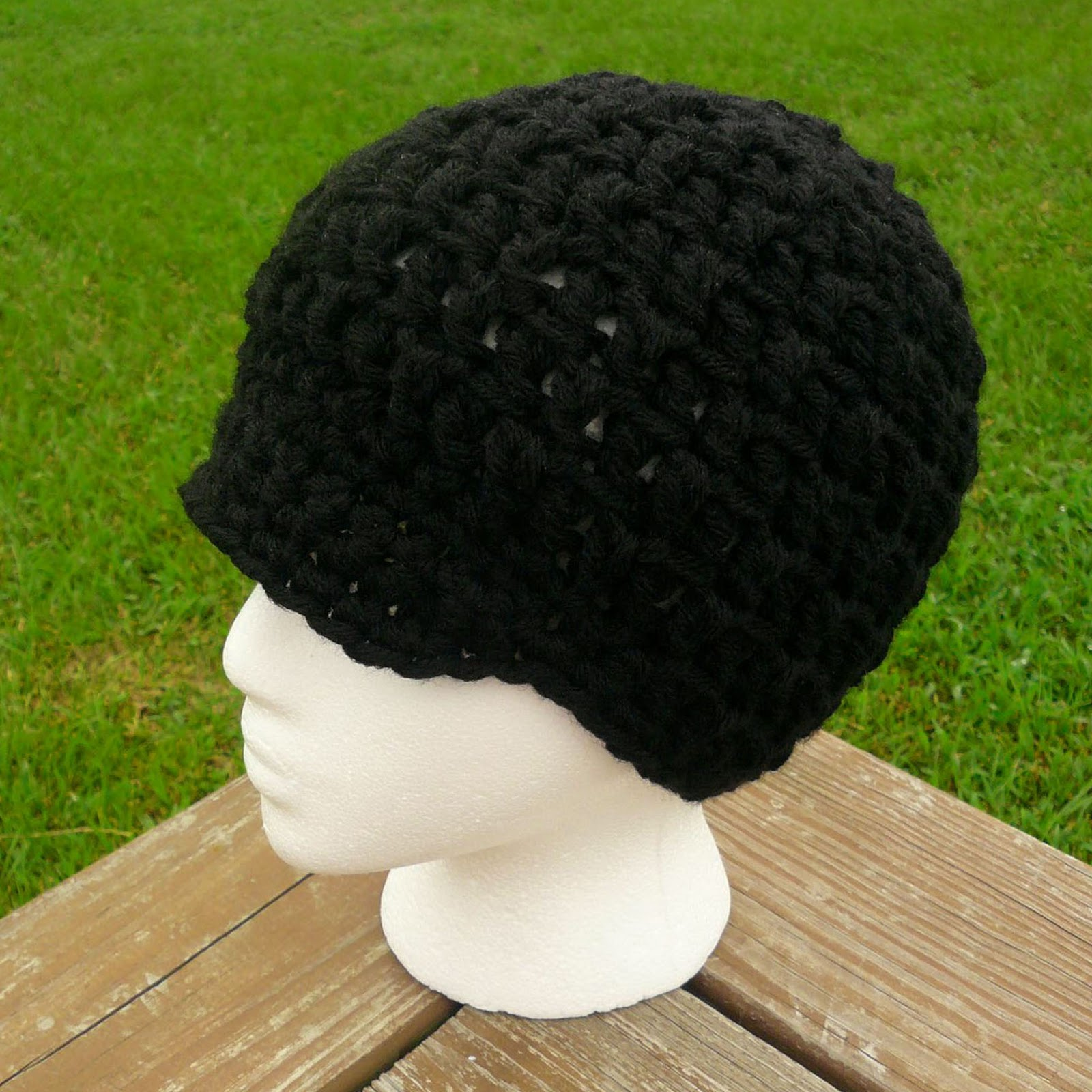 Free Crochet Pattern Beanie With Brim : Crochet Brim Beanie Pattern Patterns Gallery