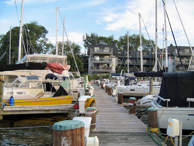 Our dock in Annapolis, Spa Creek Marina