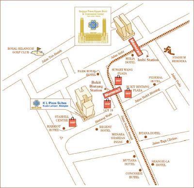 berjaya times square map. Location Berjaya Times Square.
