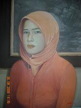potret warna cat minyak RM600 tempahan utk satu wajah