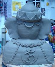 Ganesha (rear view greenware)