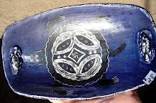Om Turtle in a Deep blue Sea