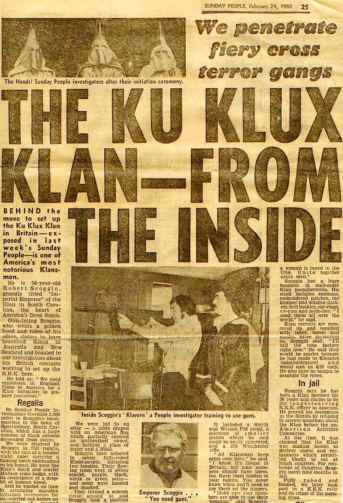 KKK NEWSPAPER EDITORS,KKK REPORTERS,NEWSPAPER EDITORS WHO ...