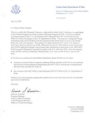 2002 03 afs dilmurod uzmonov introduction letter from department of state spiritdancerdesigns Image collections