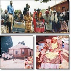 Palacio de Sua Majestade Mwene Muatchissengue Watembo no ITENGO e Membros da Sua Corte