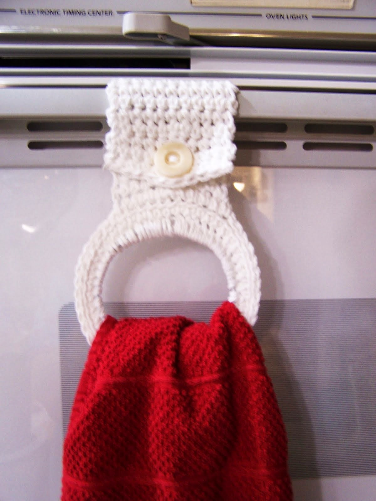 Crochet Topped Kitchen Towel | Buttonless Crochet Top