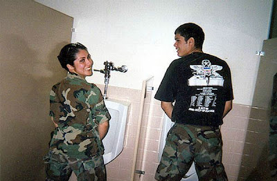 Pissing army girls