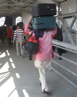 carrying suitcases india