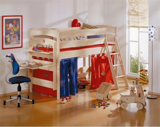 ÇAlışma Ve Oyun Alanı ÇOcuk Yatak Takımı