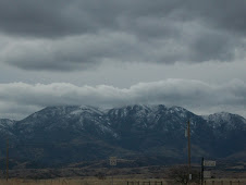 Snow clouds over Sonoita Mountains