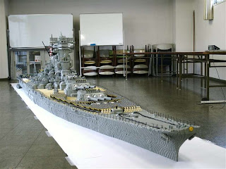 Aircraft carrier, assembled from Lego