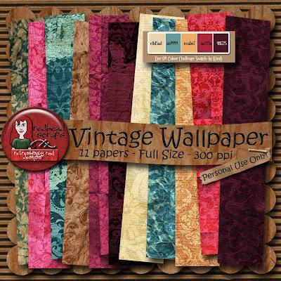 vintage wallpaper. Vintage Wallpaper Freebie
