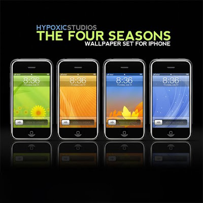 seasons wallpaper. Four Seasons Wallpaper Set for