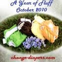 a year of fluff cloth diaper event