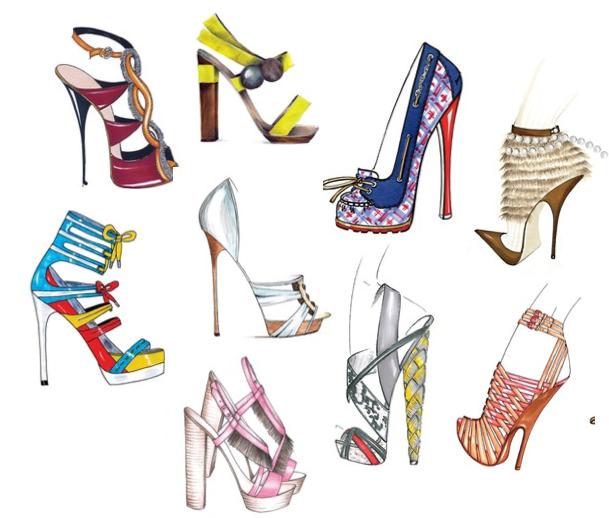 Innovative Footwear Designer  Shoe Designer  UK  Sketch Packs  Shoedesignco