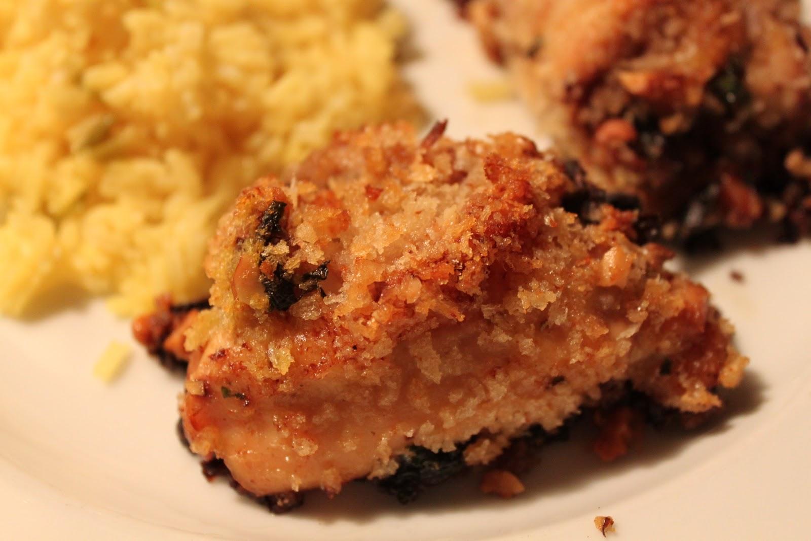 Lindaraxa: Roasted Chicken Thighs With Bread Crumbs And Mushroom ...
