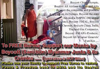 >MoeMaKa enforce again the boycott call of the Monks to Burmese junta