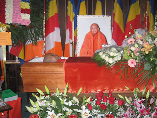 >The Funeral Service of Masoeyein Sayadaw proceeded accordingly
