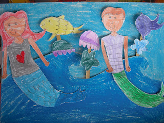 Kids craft directory little mermaid and her friends for Mermaid arts and crafts
