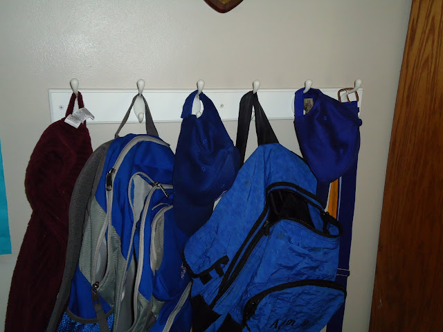 Kids Room Backpack Hooks | organizingmadefun.com