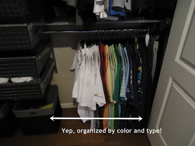 Organize by color | organizingmadefun.com