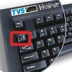 TVS Gold Bharat named keyboard with Rupee Symbol