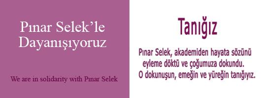 Pınar Selek'le Dayanışıyoruz
