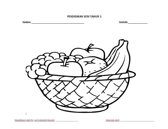 Kertas Mewarna utk Peperiksaan Pendidikan Seni dan Visual Tahun 1 bagi