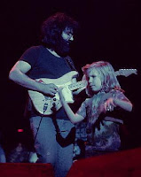 Jerry Garcia and dancing girl 1972