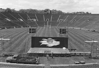 Grateful Dead Stage Set Up - 1971 Yale Bowl